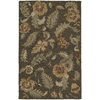 Kaleen Khazana 5-ft x 7-ft 9-in Rectangular Black Floral  Area Rug