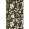 Kaleen Khazana 27-in x 7-ft 6-in Rectangular Black Floral Area Rug