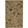 Kaleen Khazana 8-ft x 11-ft Rectangular Yellow Floral Area Rug