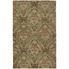 Kaleen Khazana 7-ft 6-in x 9-ft Rectangular Brown Floral Area Rug