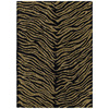 Kaleen Khazana 5-ft x 7-ft 9-in Rectangular Black Transitional Area Rug