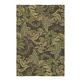 Kaleen Home and Porch Rectangular Brown Floral Indoor/Outdoor Tufted Area Rug (Common: 8-ft x 10-ft; Actual: 9-ft x 7.5-ft)