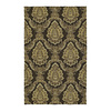 Style Selections Home and Porch 24-in x 36-in Rectangular Tan Floral Accent Rug