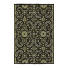 Kaleen Home and Porch 24-in x 36-in Rectangular Black Floral Accent Rug