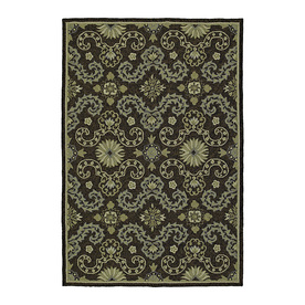 Kaleen Home and Porch Rectangular Black Floral Indoor/Outdoor Tufted Area Rug (Common: 8-ft x 10-ft; Actual: 9-ft x 7.5-ft)