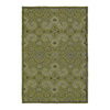 Kaleen Home and Porch 24-in x 36-in Rectangular Green Floral Accent Rug