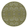 Kaleen Home and Porch 7-ft 9-in x 7-ft 9-in Round Green Floral Indoor/Outdoor Area Rug