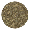 Kaleen Round Brown Floral Indoor/Outdoor Tufted Area Rug (Common: 6-ft x 6-ft; Actual: 5.75-ft x 5.75-ft)
