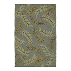 Kaleen Home and Porch 12-ft x 9-ft Rectangular Blue Floral Indoor/Outdoor Area Rug