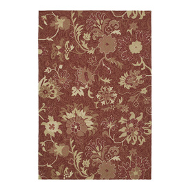 Kaleen Home and Porch 24-in x 36-in Rectangular Red Floral Accent Rug