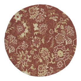 Kaleen 7-ft 9-in x 7-ft 9-in Round Red Floral Indoor/Outdoor Area Rug