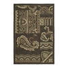 Kaleen Home and Porch 7-ft 6-in x 9-ft Rectangular Chocolate Floral Indoor/Outdoor Area Rug