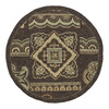 Kaleen 69-in x 69-in Round Brown/Tan Floral Indoor/Outdoor Area Rug