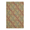 Kaleen Home and Porch 24-in x 36-in Rectangular Tan Floral Accent Rug