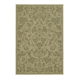 Kaleen Home and Porch Rectangular Cream Floral Indoor/Outdoor Tufted Area Rug (Common: 8-ft x 10-ft; Actual: 9-ft x 7.5-ft)
