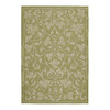Kaleen Home and Porch 36-in x 60-in Rectangular Green Floral Accent Rug