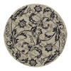 Kaleen Round Cream Floral Indoor/Outdoor Tufted Area Rug (Common: 6-ft x 6-ft; Actual: 5.75-ft x 5.75-ft)