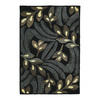 Kaleen Premier 36-in x 60-in Rectangular Black Floral Accent Rug