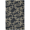 Kaleen Astronomy 36-in x 5-ft Rectangular Black Geometric Area Rug