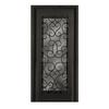 Escon 1-Panel Insulating Core Full Lite Left-Hand Inswing Bronze Iron Painted Prehung Entry Door (Common: 39-in x 81-in; Actual: 39-in x 81-in)