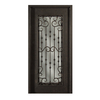 Escon 1-Panel Insulating Core Full Lite Right-Hand Inswing Bronze Iron Painted Prehung Entry Door (Common: 39-in x 81-in; Actual: 39-in x 81-in)