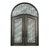 Escon 1-Panel Insulating Core Full Lite Right-Hand Inswing Bronze Iron Painted Prehung Entry Door (Common: 76-in x 120-in; Actual: 76-in x 120-in)