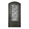 Escon 1-Panel Insulating Core 3/4 Lite Right-Hand Inswing Bronze Iron Painted Prehung Entry Door (Common: 40-in x 84-in; Actual: 40-in x 84-in)