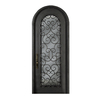 Escon 1-Panel Insulating Core Full Lite Right-Hand Inswing Bronze Iron Painted Prehung Entry Door (Common: 39-in x 96-in; Actual: 39-in x 96-in)