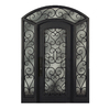 Escon 1-Panel Insulating Core Full Lite Right-Hand Inswing Bronze Iron Painted Prehung Entry Door (Common: 71-in x 97-in; Actual: 70.25-in x 97-in)