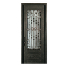 Escon 1-Panel Insulating Core 3/4 Lite Right-Hand Inswing Bronze Iron Painted Prehung Entry Door (Common: 39-in x 96-in; Actual: 39-in x 96-in)