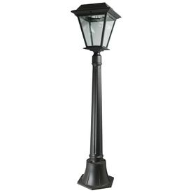 shop xepa 42 in black solar led post light at. Black Bedroom Furniture Sets. Home Design Ideas
