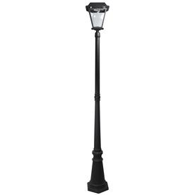 shop xepa 6 ft 5 in black solar led post light at. Black Bedroom Furniture Sets. Home Design Ideas