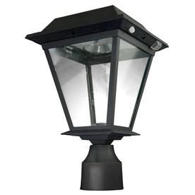 shop xepa 13 1 2 in black solar led post light at. Black Bedroom Furniture Sets. Home Design Ideas
