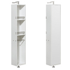 Wyndham Collection Amare 13.75-in W x 73-in H x 15-in D Glossy White MDF Wall-Mount Linen Cabinet