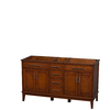Wyndham Collection Hatton Light Chestnut Transitional Bathroom Vanity (Common: 60-in x 22-in; Actual: 59-in x 21.5-in)