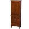 Wyndham Collection Hatton 24-in W x 70.75-in H x 16-in D Light Chestnut Birch Freestanding Linen Cabinet