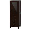 Wyndham Collection Sheffield 24-in W x 71.25-in H x 20-in D Espresso Birch Freestanding Linen Cabinet