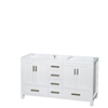 Wyndham Collection Sheffield White Transitional Bathroom Vanity (Common: 60-in x 22-in; Actual: 59-in x 21.5-in)