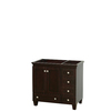 Wyndham Collection Acclaim Espresso Transitional Bathroom Vanity (Common: 36-in x 22-in; Actual: 35-in x 21.5-in)