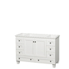 Wyndham Collection Acclaim White Transitional Bathroom Vanity (Common: 48-in x 22-in; Actual: 47-in x 21.5-in)