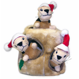 Plush Puppies 4-Pack Plush Toy with Squeaker