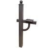 Gaines Manufacturing Bronze Aluminum Mailbox Post
