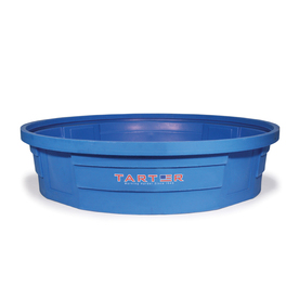 Tarter 625-Gallon Blue Polyresin Stock Tank