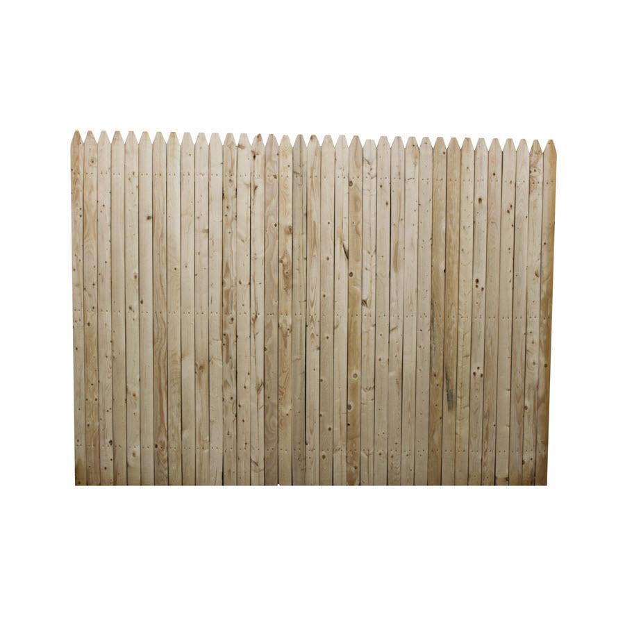 Shop Boundary 8 Ft X 8 Ft Spruce Stockade Wood Fence
