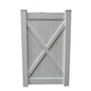 Boundary 6-ft x 4-ft White Privacy Walk Vinyl Fence Gate