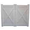 Boundary 6-ft x 10-ft White Privacy Drive Vinyl Fence Gate