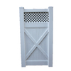 Boundary 6-ft x 3-ft White Lattice-Top Walk Vinyl Fence Gate