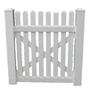 Boundary 4-ft x 5-ft White Picket Walk Vinyl Fence Gate