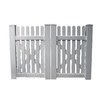Boundary 4-ft x 10-ft White Picket Drive Vinyl Fence Gate