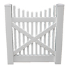 Boundary 4-ft x 4-ft White Picket Walk Vinyl Fence Gate
